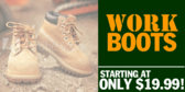 Work Boots Starting At