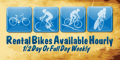 Rental Bikes Available Hourly 1/2 Day