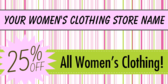 Women Clothing Store Sale