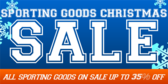 Christmas Sale, All Sporting Goods on Sale