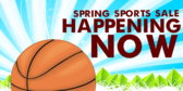 Spring Sports Sale Banner