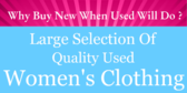 Large Selection Of Quality Used Women's Clothing