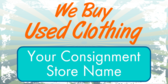 We Buy Used Clothing Here