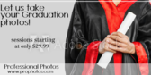 Let Us Take Your Graduation Photos Sessions