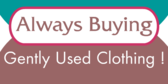 Always Buying Gently Used Clothing