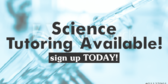 Science Tutoring Available Message Here