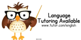 Language Tutoring Available Message