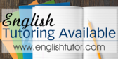 English Tutoring Available Message