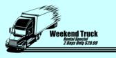 Weekend Truck Rental Special