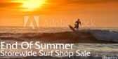 End of Season Surf Shop Sale