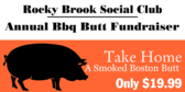 Social Club Annual Bbq Butt Fundraiser