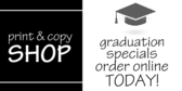 Graduation Sale at Print and Copy Store