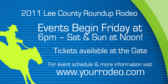 County Roundup Dates and Times