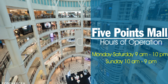 Generic Mall Hours With Write In