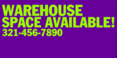 Warehouse Space Available Info