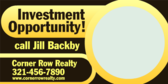 Investment Opportunity Call Us