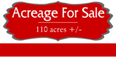 Acreage For Sale Message