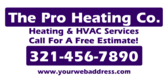 Pro HVAC Services Call for Estimate