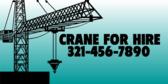 Crane For Hire info