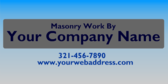 Masonry Work By Your Company Name