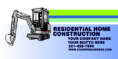 Residential Home Construction; Your Company Name;