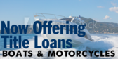 Now Offering Title Loans