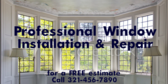 Professional Window Installation and Repairs