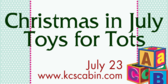 Annual Christmas in July Toys for Tots