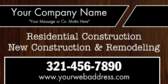 New Construction And Remodeling