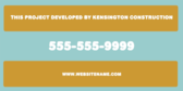 This Project Developed By Kensington Construction