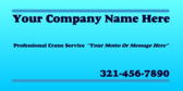 Your Company Name Here Professional Crane Service