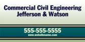 Commercial Civil Engineering Jefferson & Watson
