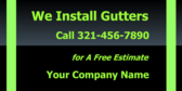 We Install Gutters Call 321-456-7890 for A Free