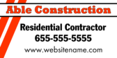 Residential Contractor Message