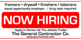 Commercial Now Hiring