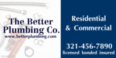 Licensed Bonded and Insured Residential Plumber