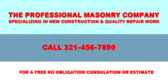 The Professional Masonry Company Specializing