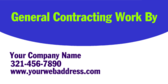 General Contracting Work By Your Company Name