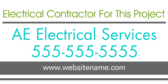 Electrical Contractor for this Project