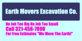 Earth Movers Excavation Co. No Job Too Big
