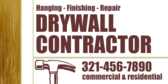 Drywall Contractor Hanging Finishing Repair