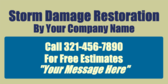 Storm Damage Restoration By Your Company Name