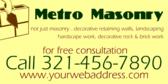 masonry signs