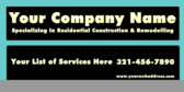 Your Company Name Specializing In Residential