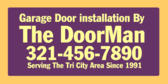 Garage Door Installed By Company Service Area