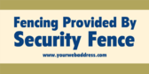 Fencing Provided by Company with Website
