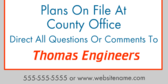 Plans on File at County Office
