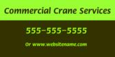 Commercial Crane Services info