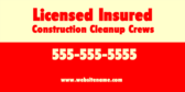 Licensed Insured Construction Cleanup Crews