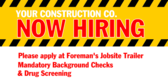 Your Construction Co Name Now Hiring